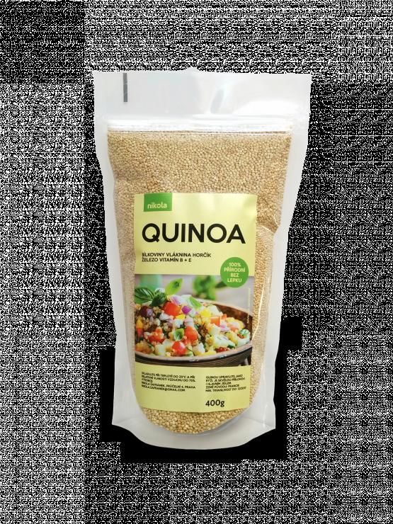 Quinoa Nikola, 400g, čirý stojací sáček se zipem